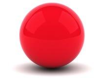 красная сфера Стоковые Изображения