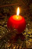 Красная, сферически свечка Стоковые Изображения RF