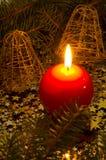 Красная, сферически свечка Стоковое Изображение
