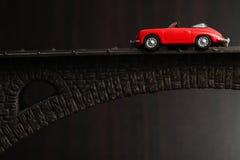 Красная сцена автомобиля Стоковые Изображения RF