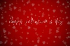 Красная, счастливая предпосылка дня валентинки Стоковое фото RF