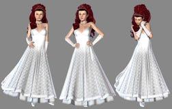 Красная с волосами невеста Стоковое фото RF