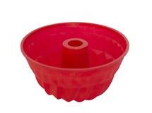 Красная тарелка выпечки силикона Стоковая Фотография