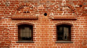 Красная текстура кирпичной стены Стоковые Фото