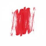 Красная текстура кисти на белой предпосылке Стоковые Фото