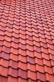 красная текстура крыши Стоковая Фотография