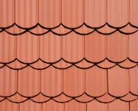 красная текстура крыши Стоковое Изображение RF