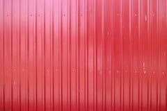 Красная текстура металла, рифлёная стальная предпосылка Стоковое фото RF