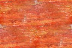 Красная текстура мрамора или травертина - безшовная плитка Стоковая Фотография