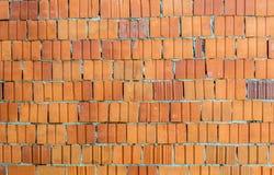 Красная текстура предпосылки кирпичной стены Стоковое Изображение