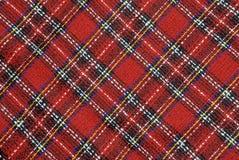 Красная текстура ткани Стоковые Фото