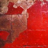 Красная текстура Grunge зернистой стены абстрактный красный цвет предпосылки Стоковое фото RF