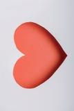 Красная тень стикера бумаги сердца Стоковая Фотография RF