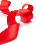 Красная тесемка подарка Стоковое фото RF