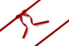 красная тесемка Стоковая Фотография