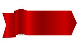 красная тесемка Стоковые Фото