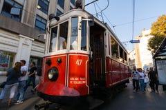 Красная тележка в Стамбуле Стоковое фото RF