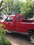 красная тележка Стоковая Фотография RF