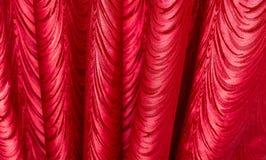 Красная ткань как предпосылка текстура Стоковые Изображения