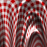 Красная ткань пикника Стоковая Фотография
