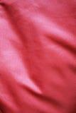 Красная ткань сатинировки Стоковое фото RF
