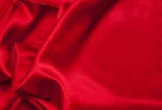 Красная ткань сатинировки Стоковое Изображение