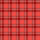 Красная ткань шотландки Стоковые Изображения