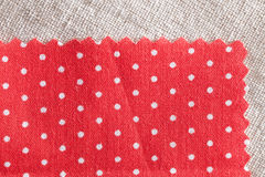Красная ткань Стоковое Изображение