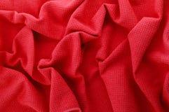 Красная ткань Стоковая Фотография RF