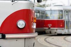 Красная трамвайная линия Стоковое Фото