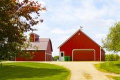 Красная ферма Стоковое Фото