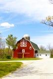 Красная ферма Стоковые Фотографии RF
