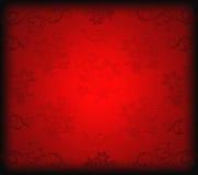 Красная флористическая предпосылка Стоковое Изображение