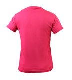 Красная футболка. Задняя часть. Стоковая Фотография