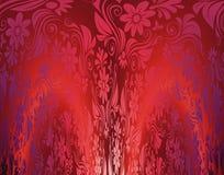 Красная флористическая безшовная иллюстрация обоев Стоковое Изображение RF