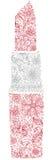 Красная флористическая губная помада Стоковое фото RF