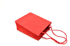 Красная хозяйственная сумка Стоковая Фотография RF