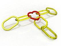 Красная цепь сердца Стоковое Фото