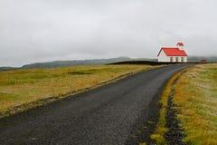 Красная церковь Стоковая Фотография