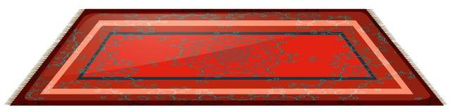 Красная циновка с простым дизайном иллюстрация вектора
