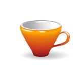 Красная чашка на белой предпосылке Стоковая Фотография RF