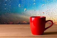 Красная чашка чая Стоковое Изображение