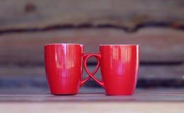 Красная чашка Стоковое Изображение RF