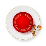 Красная шкатулка для драгоценностей на поддоннике Стоковое Изображение RF