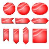 Красная этикетка вектора Стоковое Фото
