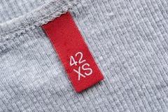 Красная этикетка Стоковое Изображение RF