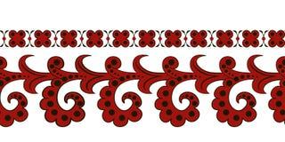 Красная этническая безшовная граница Стоковая Фотография