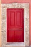Красная coffered дверь Стоковое Фото