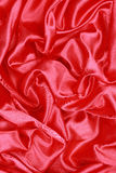Красная Silk ткань абстрактных предпосылок Стоковое Изображение RF