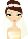 краснея невеста Стоковое Изображение